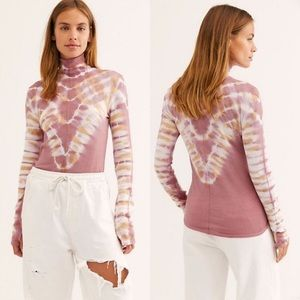 nwt // free people psychedelic turtleneck top